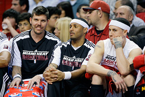 Mike Miller, Eddie House and Mike Bibby