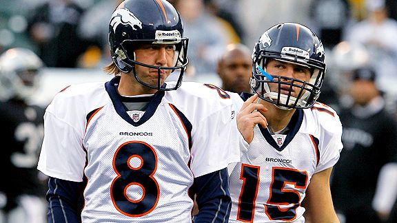 Tim Tebow and Kyle Orton