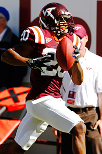 Virginia Tech cornerback Jayron Hosley