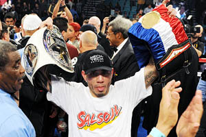 Miguel Cotto and  Yuri Foreman