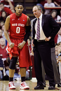Jared Sullinger and Thad Matta