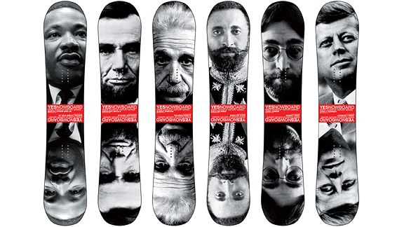 Great Dudes of History snowboards