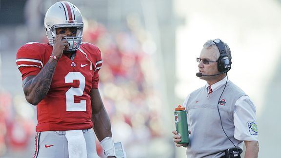 Terrelle Pryor and Jim Tressel