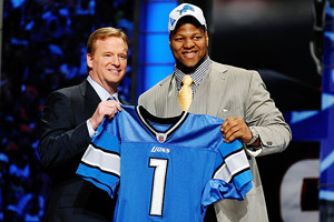 Roger Goodell  and Ndamukong Suh