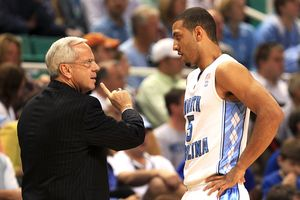 Roy Williams and Kendall Marshall