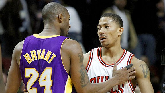 Kobe Bryant and Derrick Rose