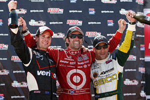 Will Power, Dario Franchitti, Tony Kanaan