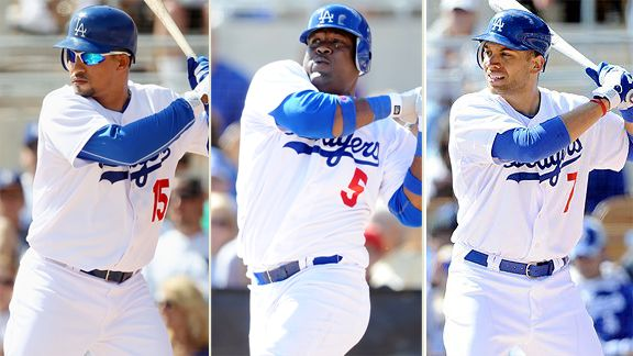 Rafael Furcal, Juan Uribe, James Loney
