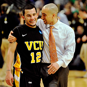 VCU's Joey Rodriguez and Shaka Smart