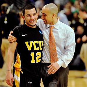 VCU's Joey Rodriguez and Shaka Smart