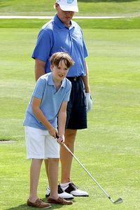 Ernie Els and son Ben