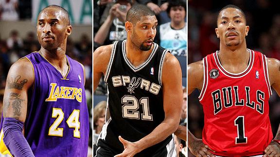 Kobe, Duncan & Rose