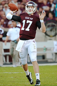 Texas A&M quarterback Ryan Tannehill