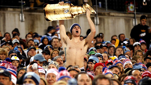 Fan with Stanley Cup