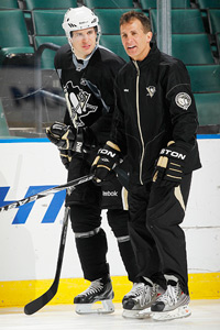 Sidney Crosby and Tony Granato