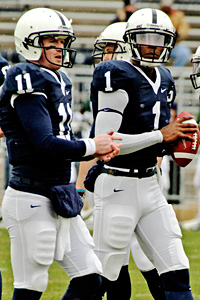Penn State's Matt McGloin and Rob Bolden