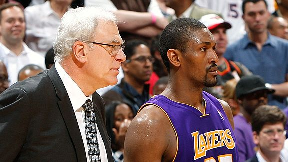 Phil Jackson and Ron Artest
