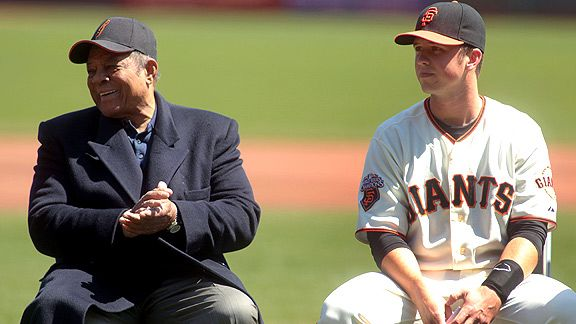 Willie Mays & Buster Posey