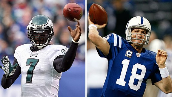 Michael Vick and Peyton Manning