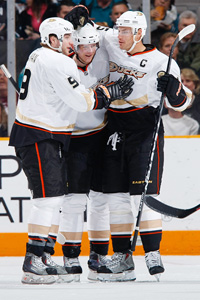 Bobby Ryan, Corey Perry and Ryan Getzlaf
