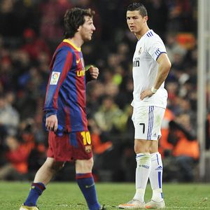 Lionel Messi of Barcelona & Cristiano Ronaldo of Real Madrid