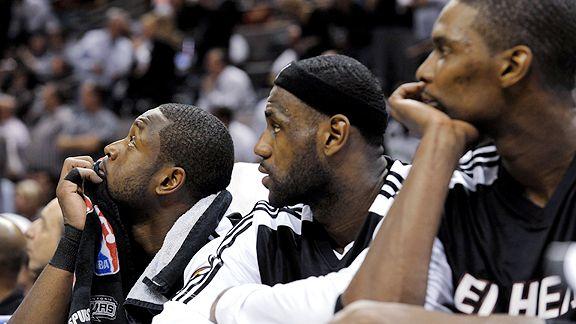 Dwyane Wade, LeBron James and Chris Bosh