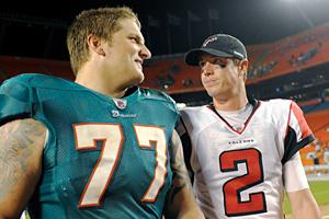 Jake Long and Matt Ryan