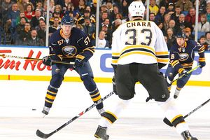 Tyler Myers and Zdeno Chara