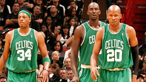 Paul Pierce, Kevin Garnett, and Ray Allen