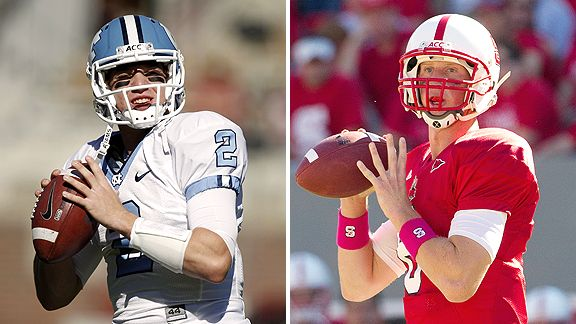 North Carolina quarterback Bryn Renner and NC State quarterback Mike Glennon are just two of the many ACC signal-callers that hail from Virginia.