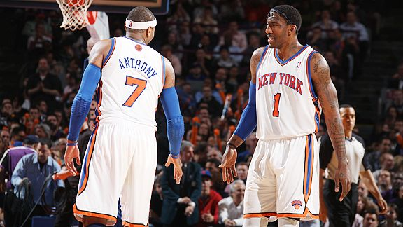 Carmelo Anthony and Amare Stoudemire