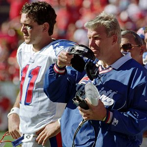 Bill Parcells and Drew Bledsoe