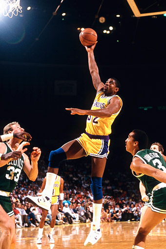 No. 2: Magic's Baby Sky Hook - Lakers Best Playoff Moments ...