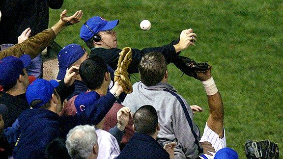 Cubs fan Steve Bartman endured death threats after interfering with Moises Alou's chance at catching a foul ball.