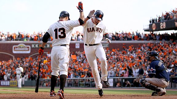 Buster Posey and Cody Ross