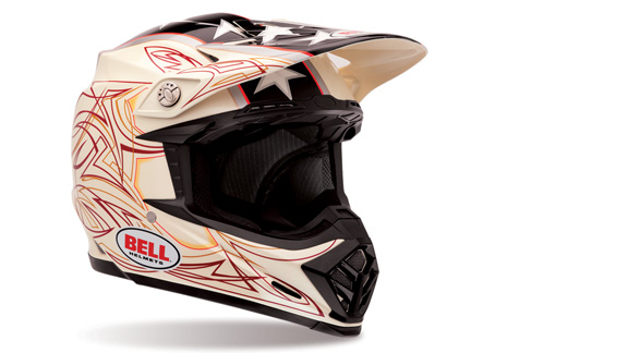 The Bell Moto-9 featured in the Stunt Pearl colorway.