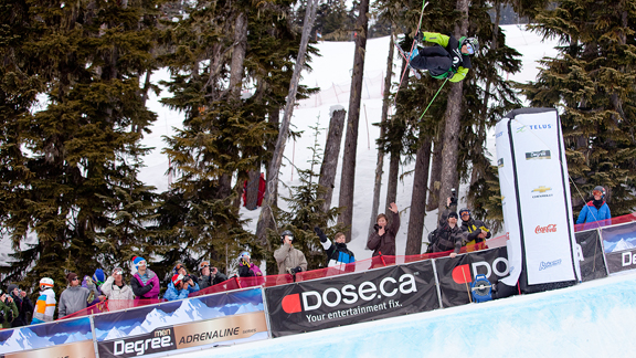 Justin Dorey's clinched the title in the AFP superpipe.