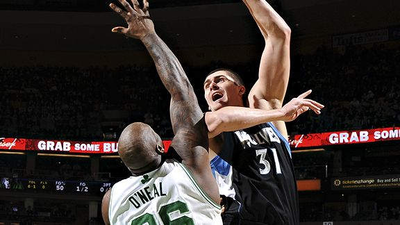 Shaquille O'Neal and Darko Milicic