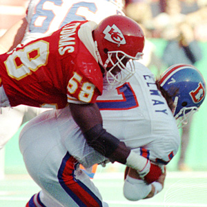 Derrick Thomas and John Elway