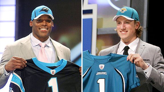 Cam Newton and Blaine Gabbert