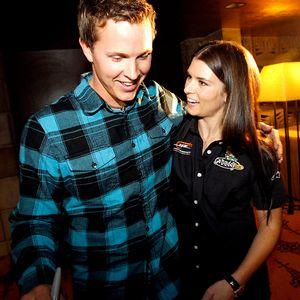 Danica Patrick and Trevor Bayne