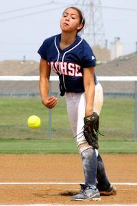 Kelsey Payne pitching