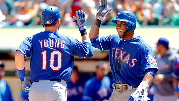 Michael Young and Elvis Andrus