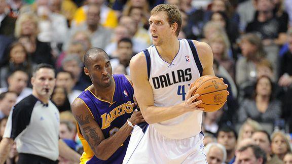 Dirk Nowitzki and Kobe Bryant
