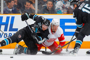 Logan Couture and Dany Heatley