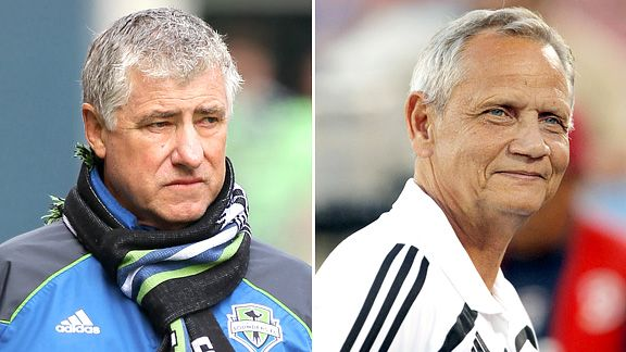 Sigi Schmid and Schellas Hyndman
