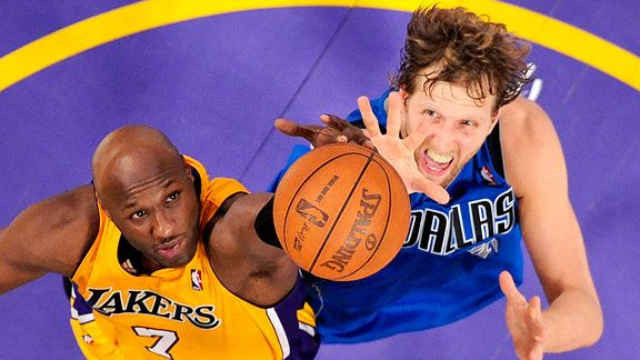Lamar Odom and Dirk Nowitzki