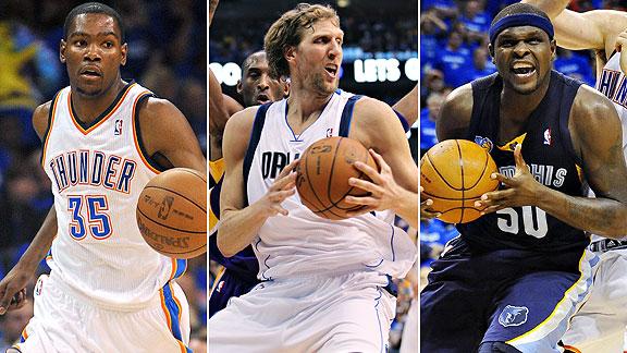 Durant/Nowitzki/Randolph