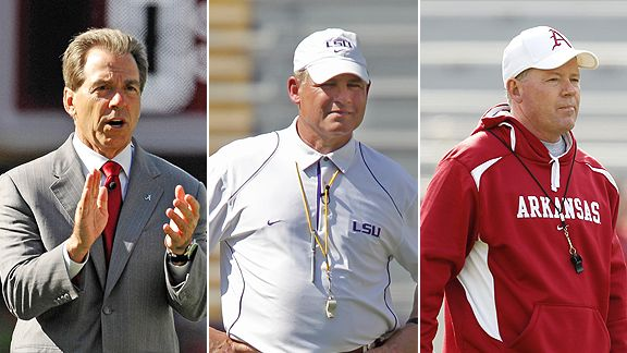Nick Saban, Les Miles and Bobby Petrino