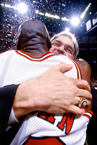 Phil Jackson and Michael Jordan